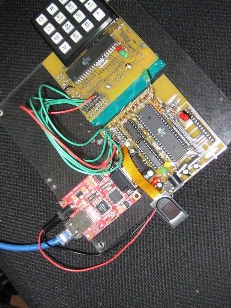Networked Biometric Authentication Using Atmega32