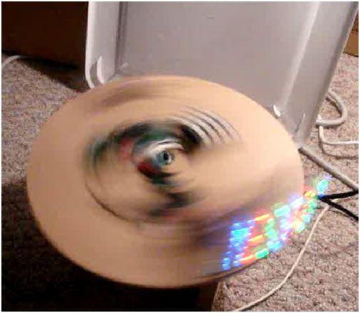 Programmable RGB Spinning LED Display Using Atmega32