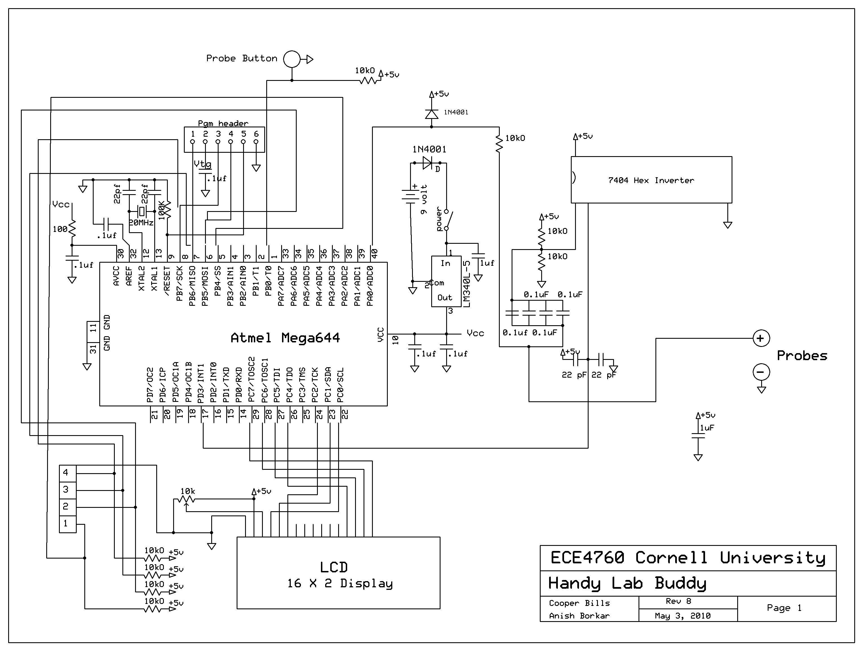 Talking voltmeter Using Atmega644 Schemetic