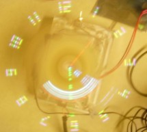 Wireless Persistence of Vision Device with Realtime Control Using Atmega644