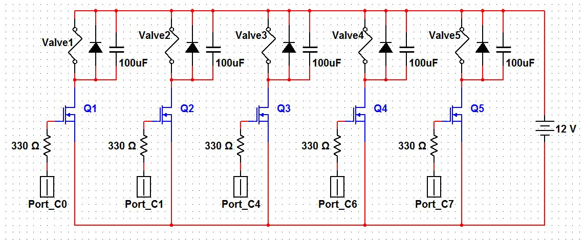 Automated Drink Mixer Using Atmega1284 Schemetic
