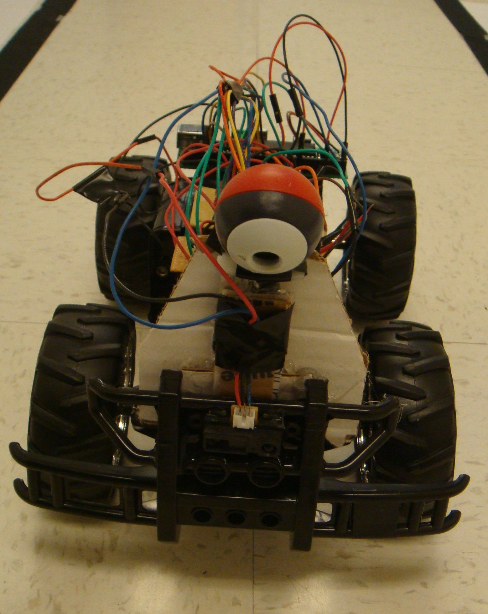 Autonomous visually steered car Using Atmega644