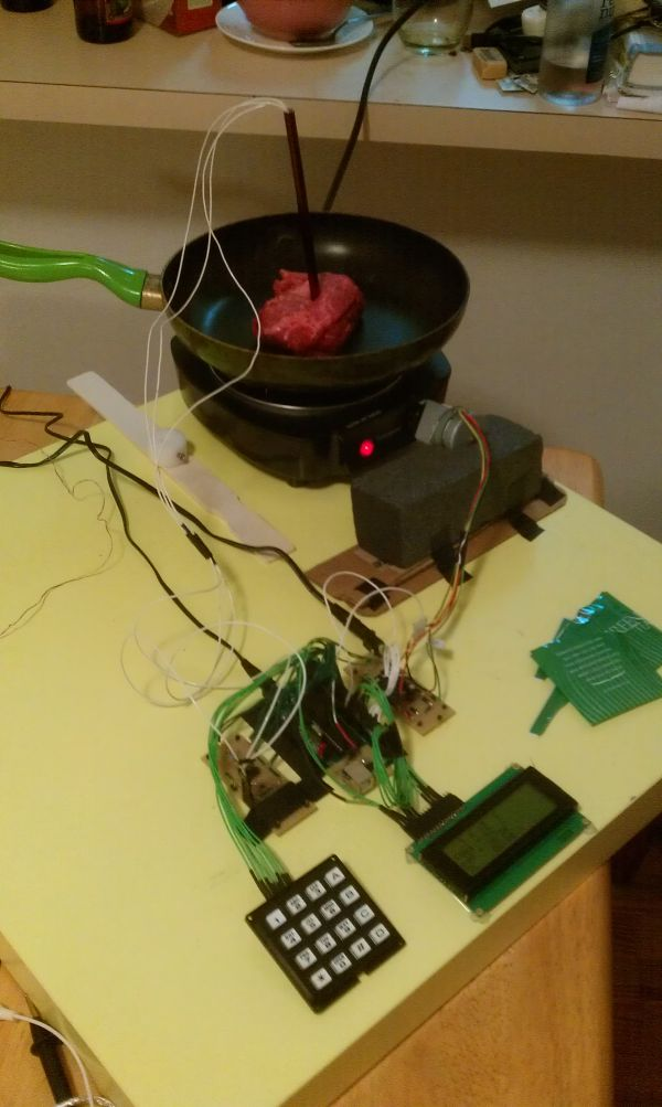 Cooking Assistant for Automatic Temperature Control Using Atmega644
