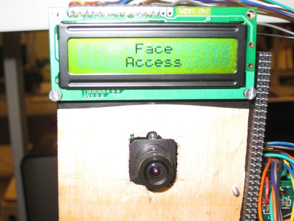 FaceAccess -- A Portable Face Recognition System Using Atmega644