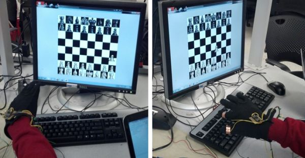 Hand-Motion Chess Using Atmega1284