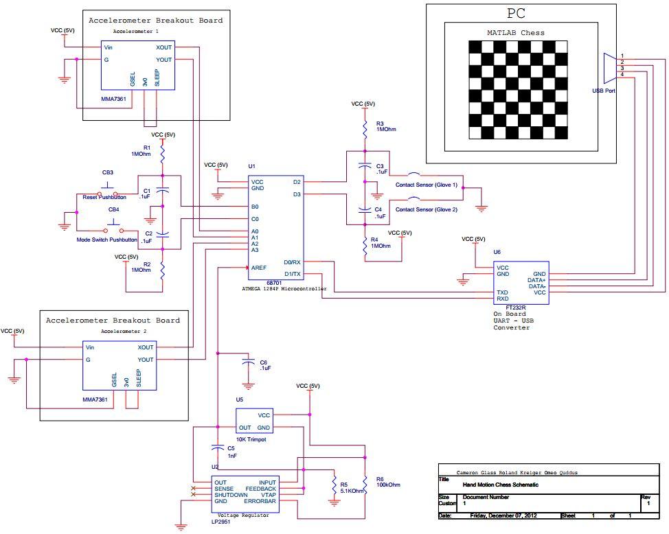 Hand-Motion Chess Using Atmega1284