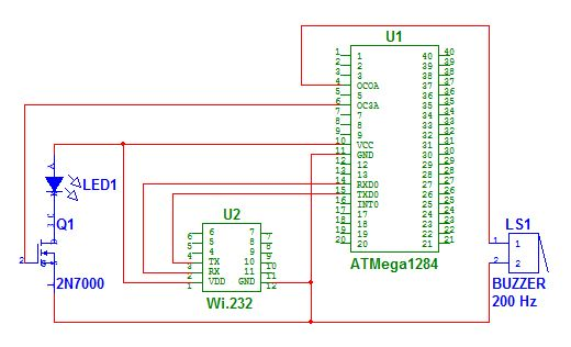 IFF System for Infantry Using Atmega644 Schemetic