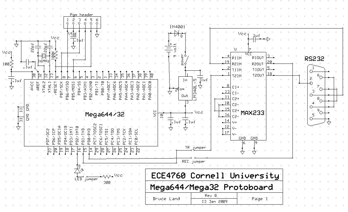 LED-Following K'NEX Car Using atmega644 Schemetic