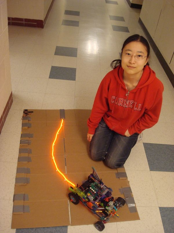 LED-Following K'NEX Car Using atmega644