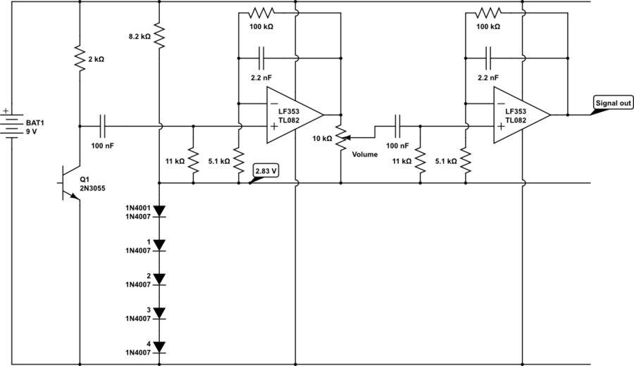 Optical microphone and spectrum analyzer Using Atmega644 Schemetic