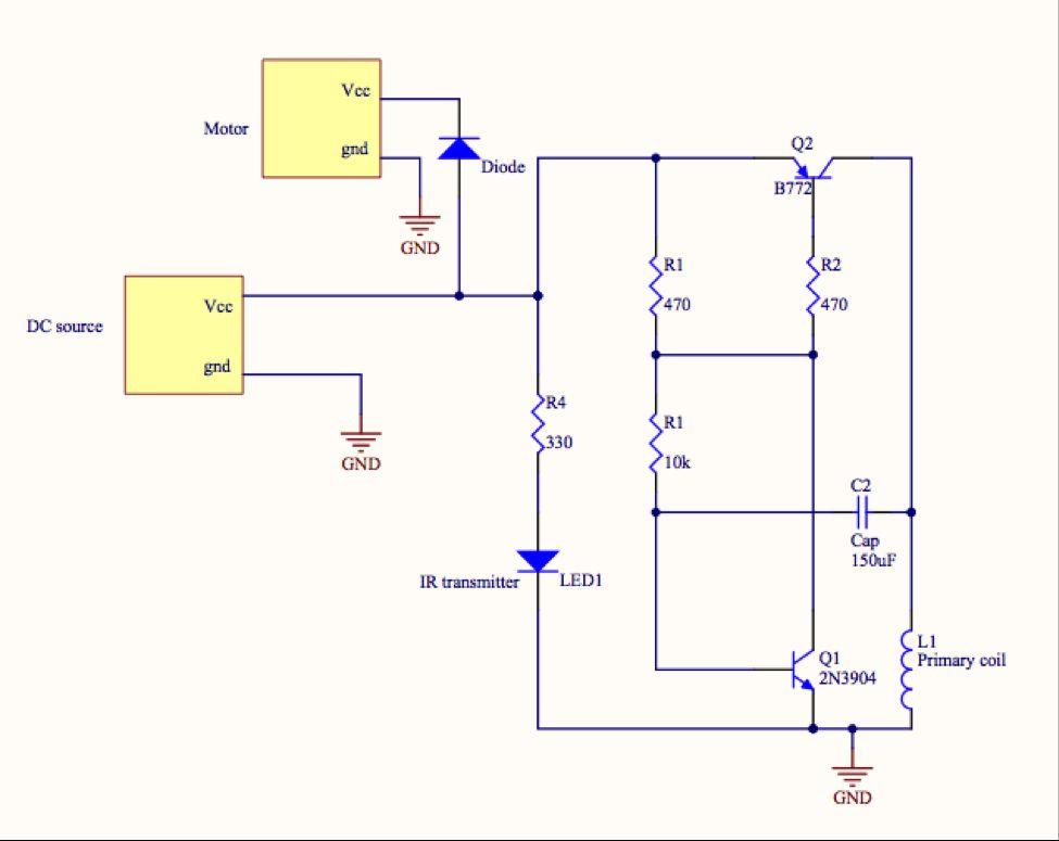 Remote Controlled POV Display Using Atmega1284 Schemetic