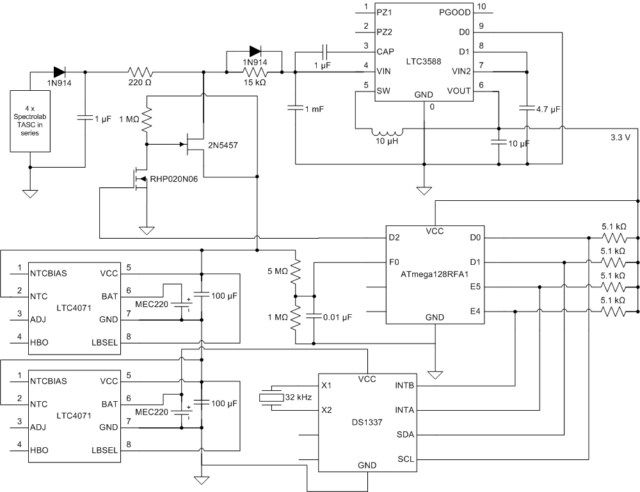 Self-Reliant Power and Data Management System Using Atmega644