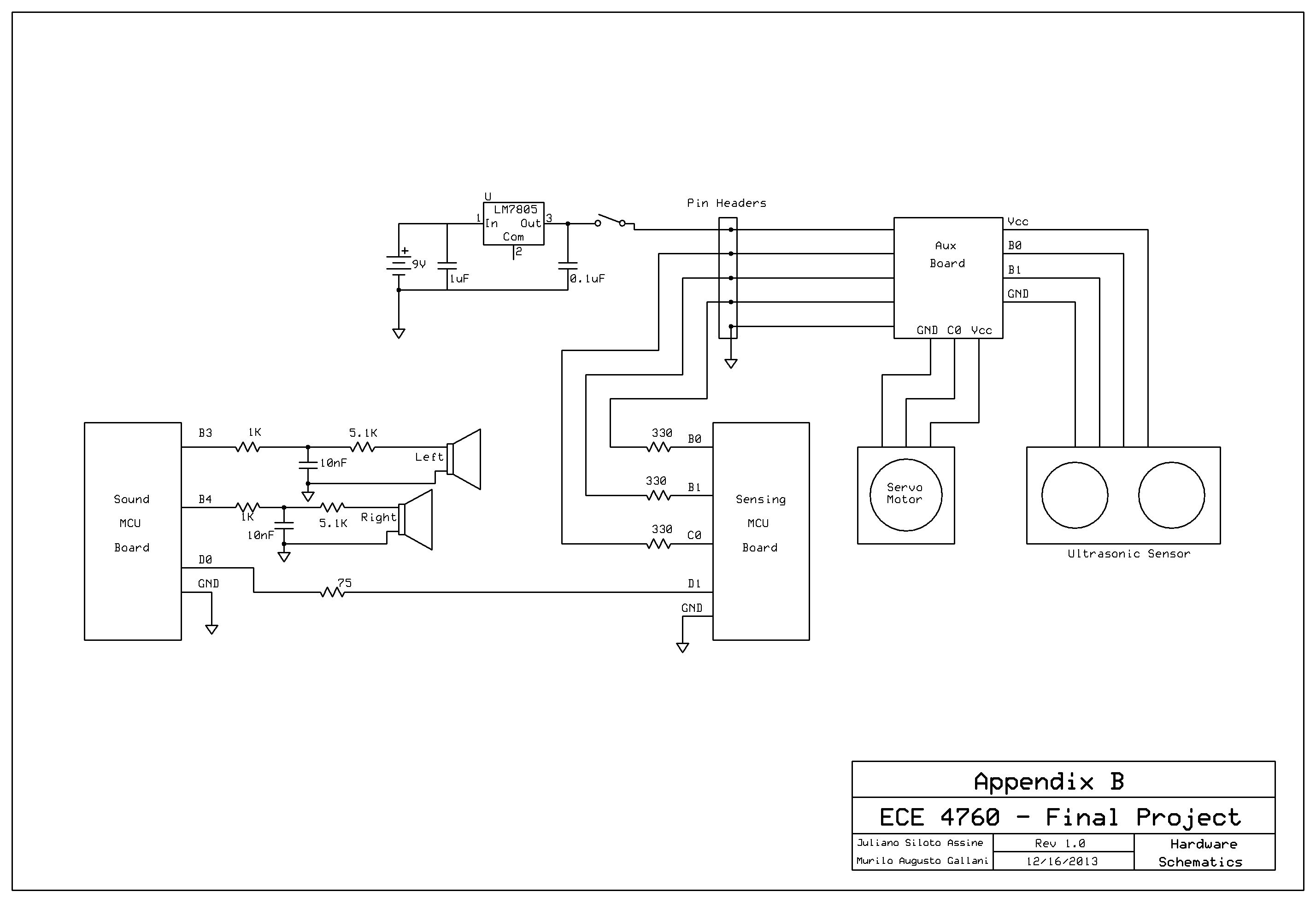 Ultrasonic Pathfinder Using Atmega1284 Schemetic