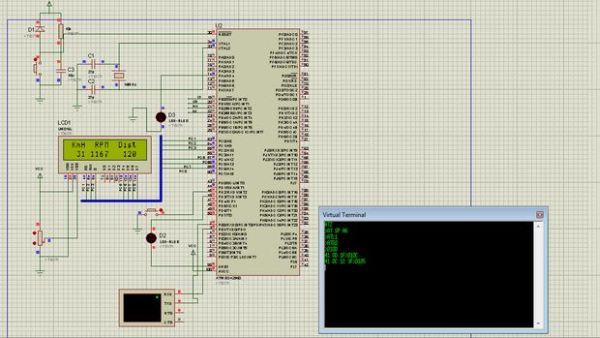 Car datta logger Using OBD II protocol Schemetic