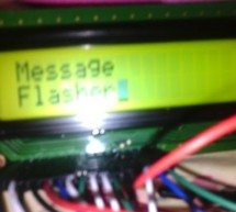 Create yourself a message flasher with ATMEGA128