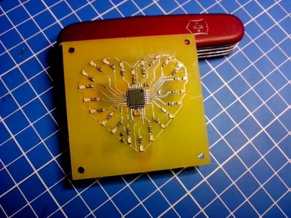 DIY SMD LED heart