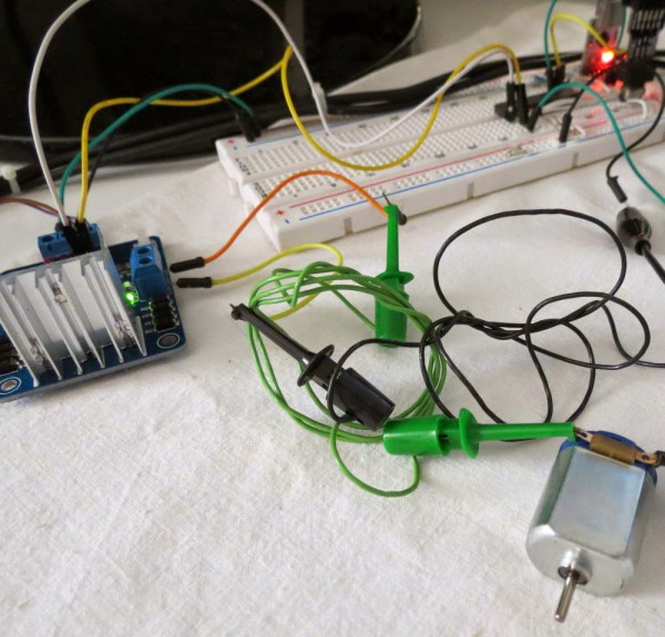 Driving a DC motor using PWM with AVR ATmega
