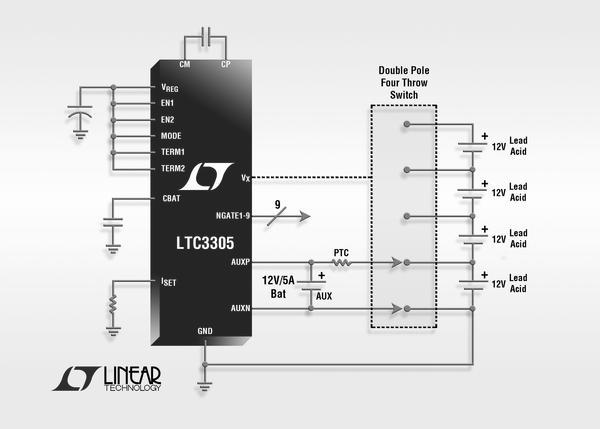 LTC3305 - Lead Acid Battery Balancer