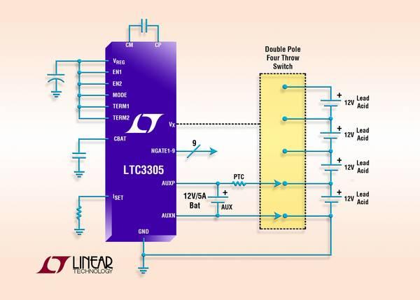 LTC3305 – Lead Acid Battery Balancer