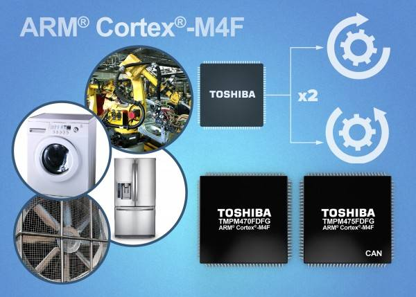 Toshiba Announces Two New ARM Cortex-M4F Based Microcontrollers