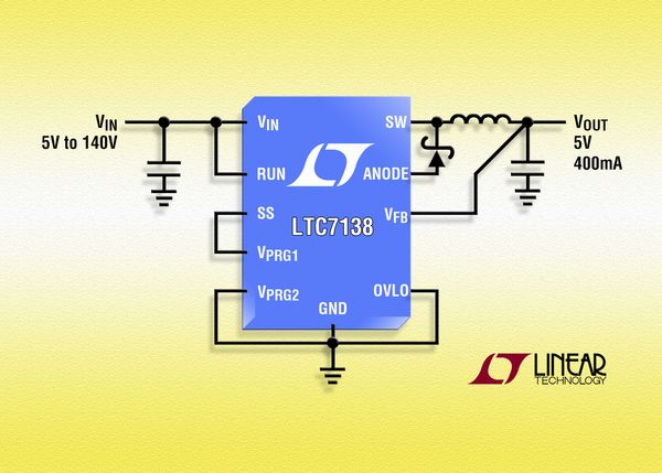 LTC7138 - High Efficiency, 140V 400mA Step-Down Regulator