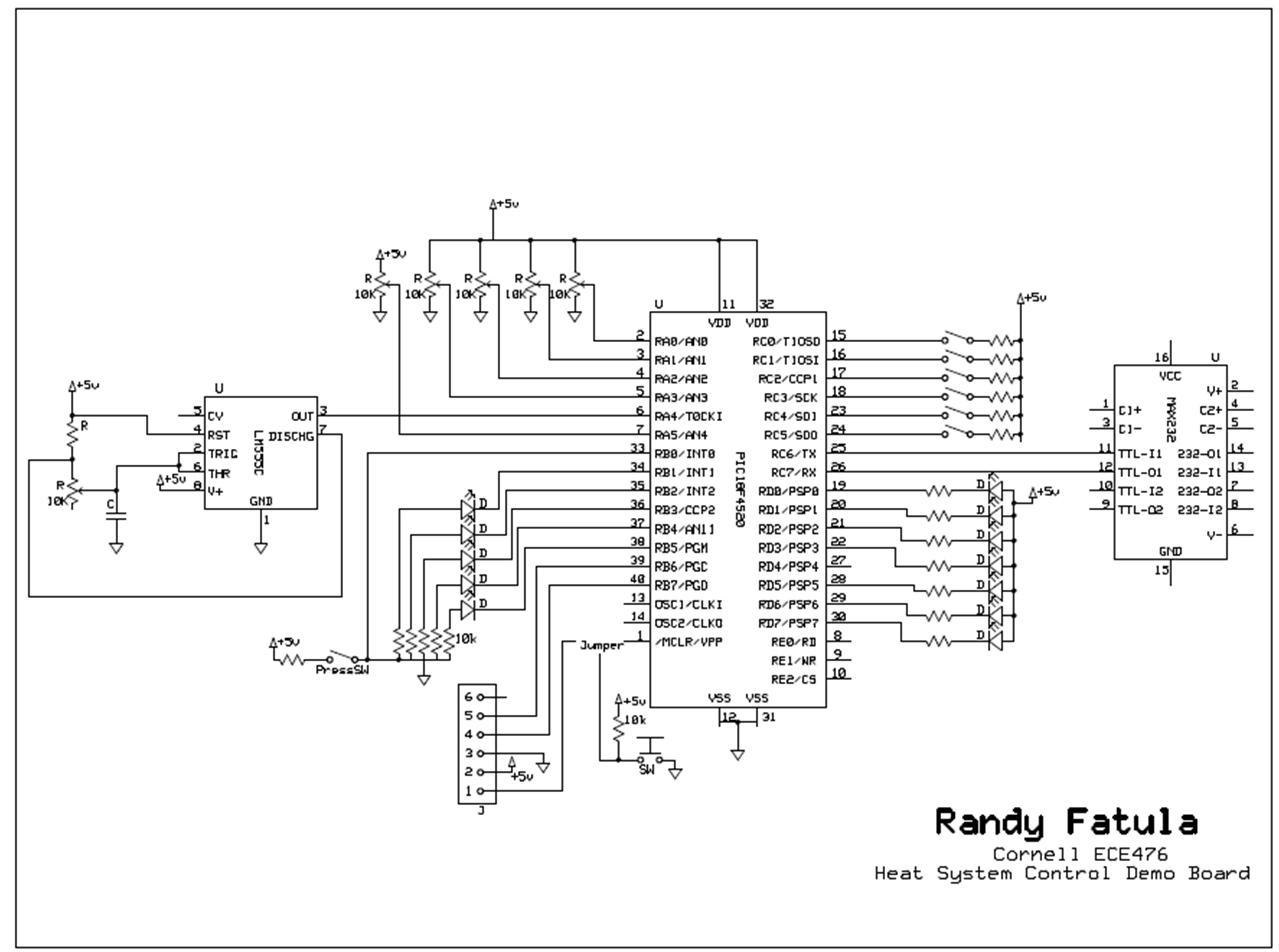 Heat Control System Using Atmega644 Schemetic