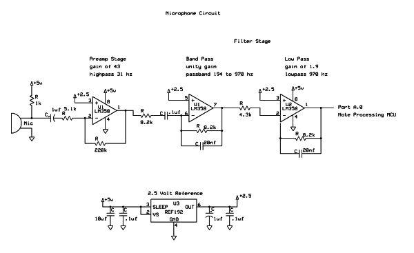 Sheet Music Notator Using Atmega644 Schemetic