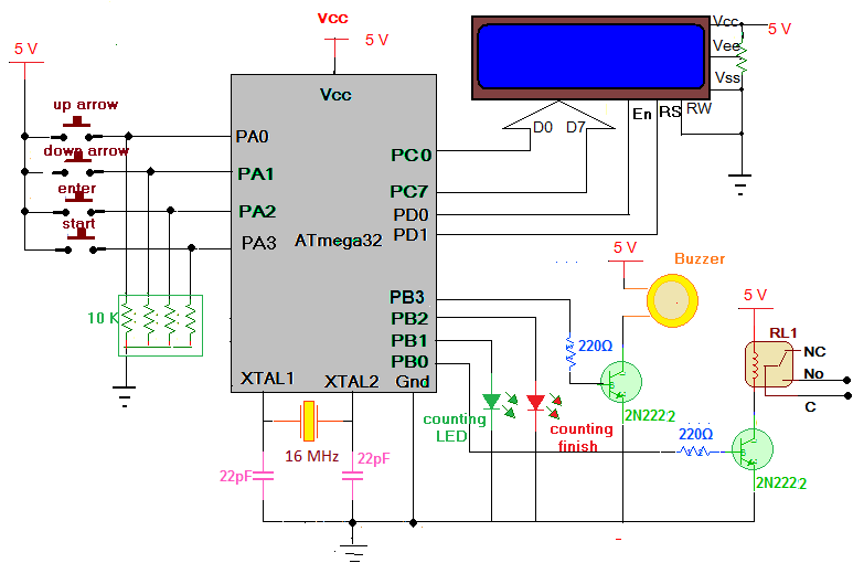 Fully Customized Device On/Off Timer schematic