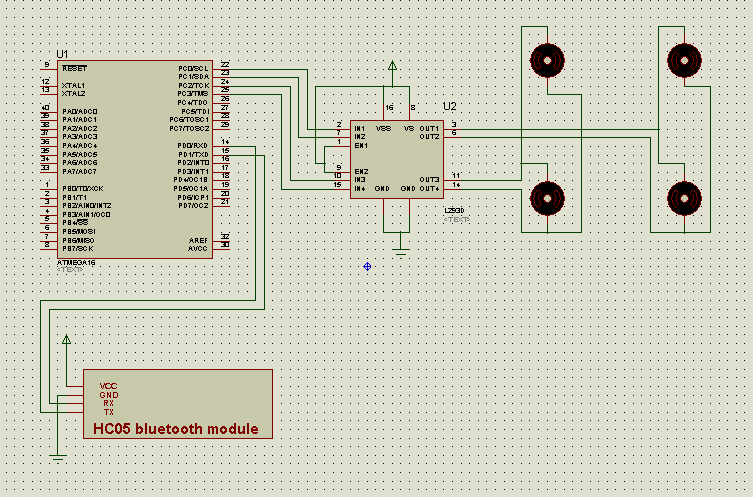 Mobile - Gesture Controlled Car schematic