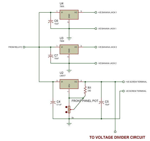 Un-interruptible Bench-top DC Power Supply With Display circuit