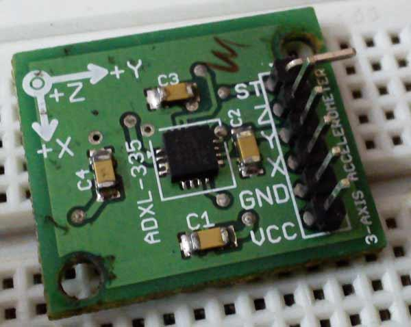 Interfacing Triple-Axis Accelerometer with AtMega16
