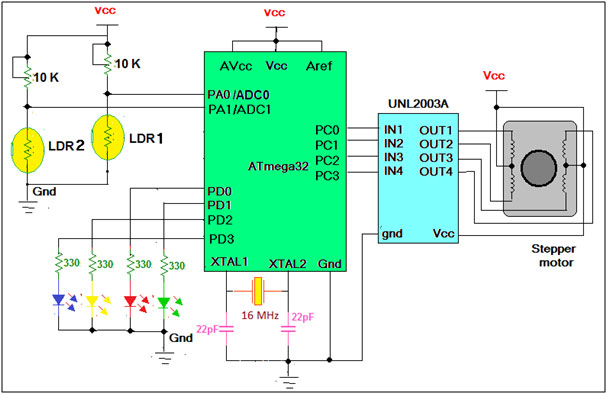 Light Tracker Demonstration schematic