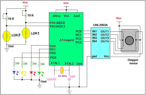 Light Tracker Demonstration schematic
