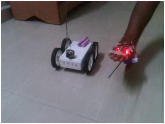 Accelerometer Based Hand Gesture Controlled Robot