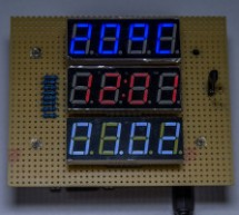 Clock/temperature LED display