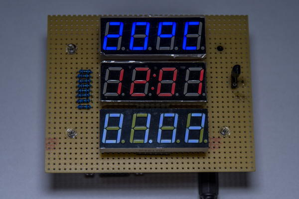 Clockemperature LED display