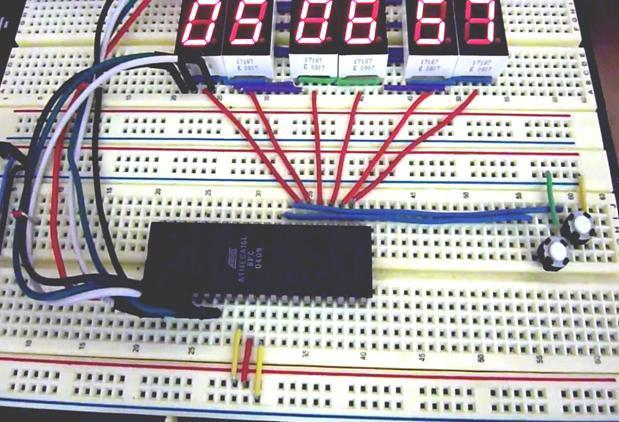 Digital Clock using Seven Segment Display and ATMega16