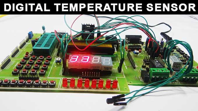 digital temperature probe digital temperature sensor circuit atmega32 avr