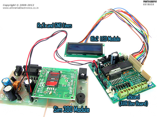 GSM Module SIM300 Interface with AVR Amega32