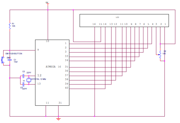 Interfacing 16X2 LCD to AVR Microcontroller