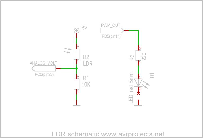 Photocell or LDR | ATMega32 AVR