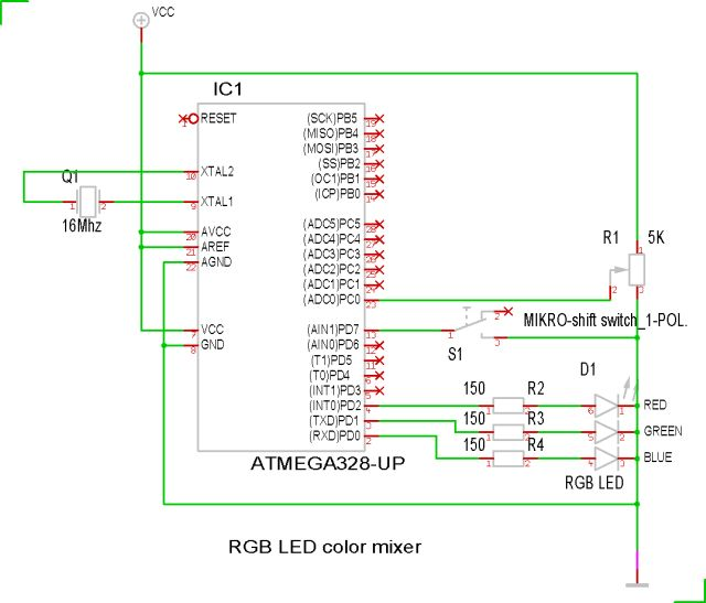 RGB LED color mixer