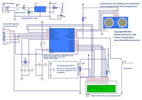 Arduino and HC-SR04 Ultrasonic Sensor Computer