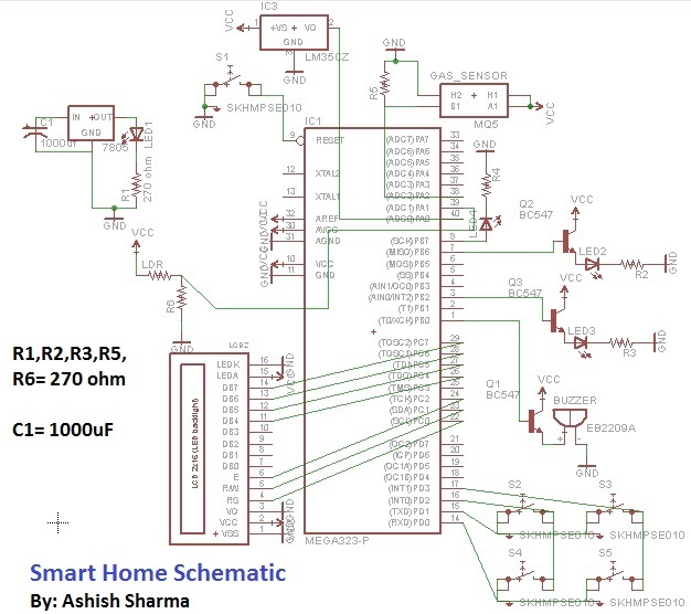 Smart Home Automation using AVR