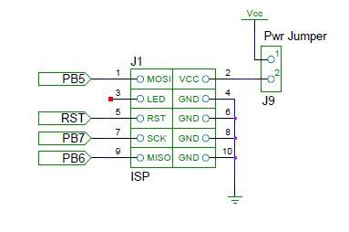 ATmega DIP40 Minimal Board schematic