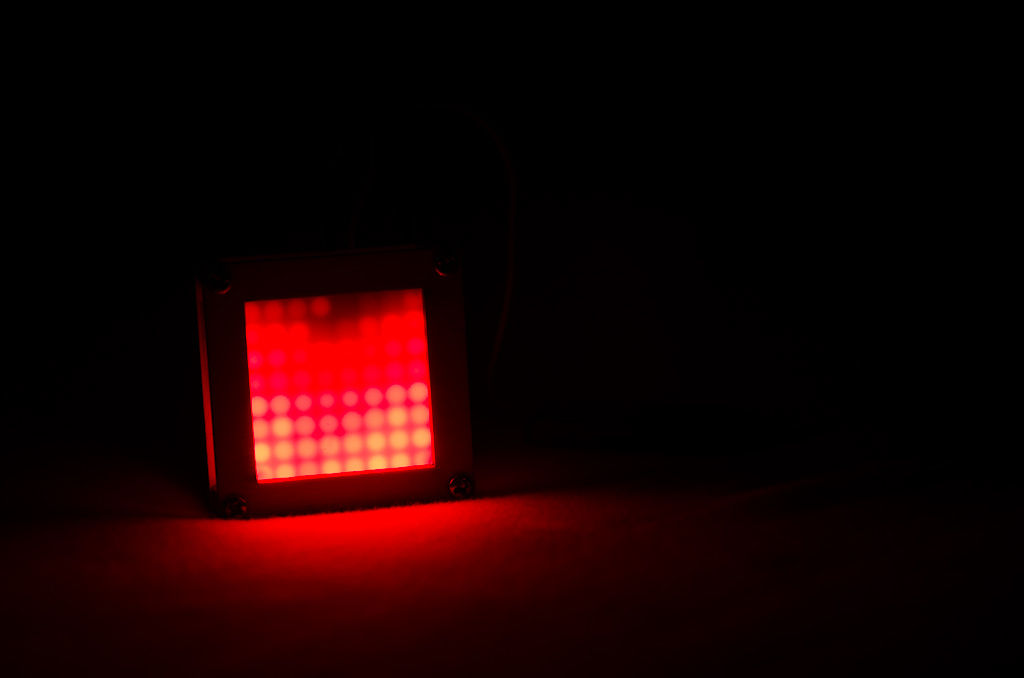 Flames effect with a 8x8 LED Matrix and ATMega328
