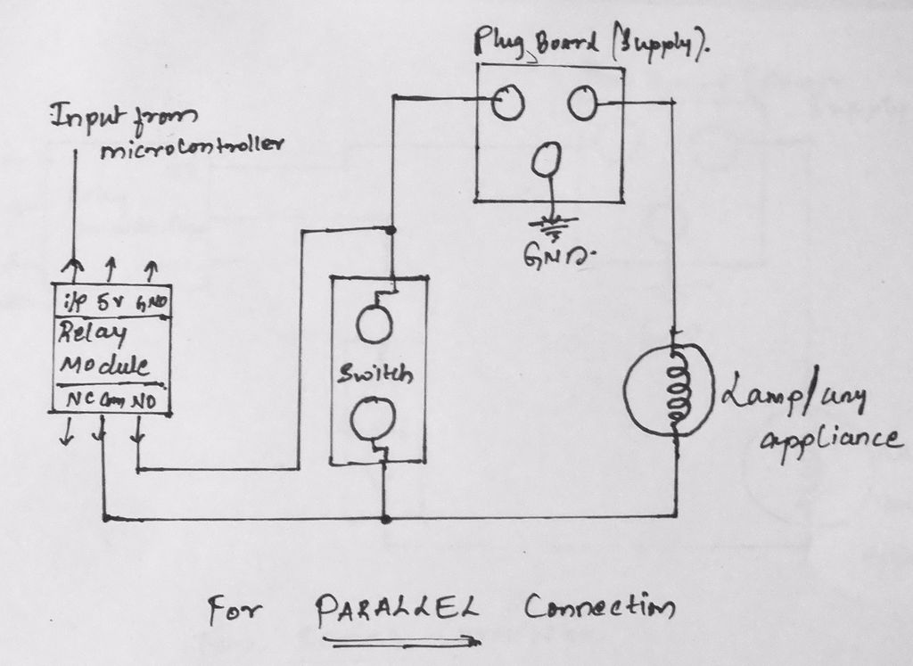 Remote controlled switch using Atmega 328p schematic