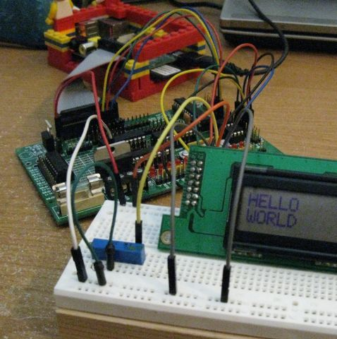 Running an HD44780 Display off the ATmega on a Gertboard