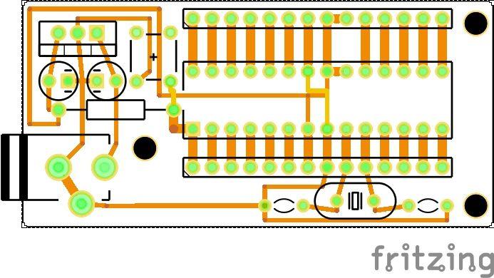 Small Footprint ATMega328P Board schematic