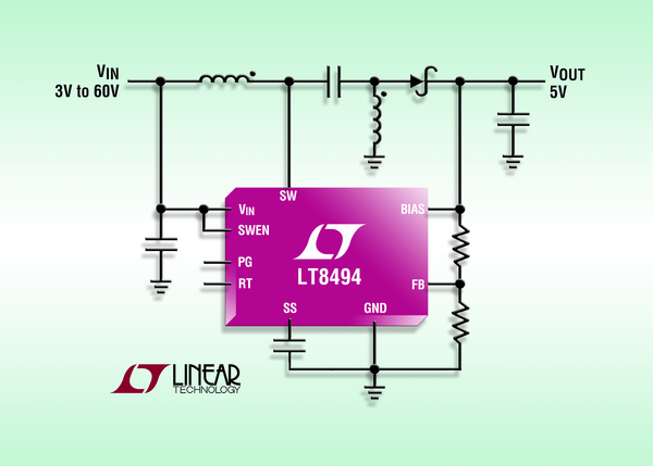 2A 70V SEPIC Boost DC DC converter with 7µA Iq Electronics Lab